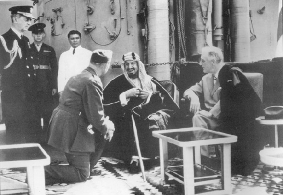 President Roosevelt meets King Ibn-Saud