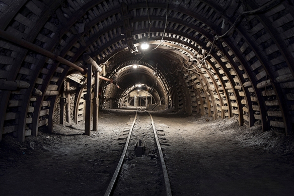 Underground tunnel in the coal mine